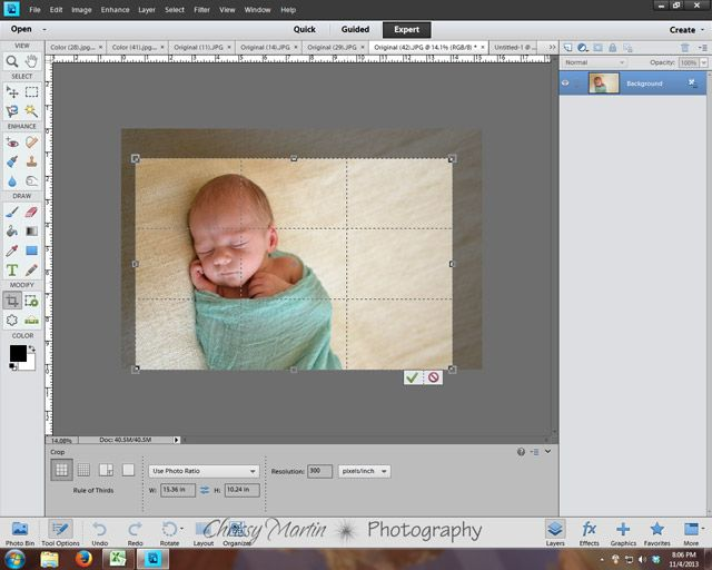 DIY Editing of a Newborn Portrait: Tilt, Rotate, and Crop It Baby | Chrissy Martin Photography