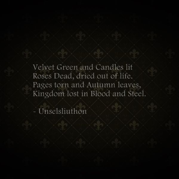 Gothic/ Medieval Poetry by D. Unselsliuthon