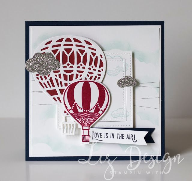 Stampin Up Lift me Up Card by Stampin with Liz Design