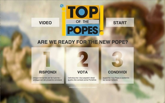Homepage (from 8 to 13 march '13) [topofthepopes.com]