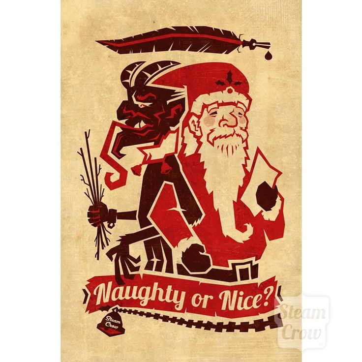 While Santa Claus rewards nice and kind children, the Krampus punishes the naughty children with whipping with birch twigs and being bound in chains. Hey, we don't make this stuff up! It's in Austrian Folklore!  We were really excited to learn about a Christmas monster! The Krampus rules!  Il...