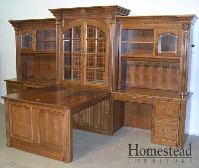 C 319 Office Desk W/Hutch By Homestead Furniture In Amish Country.