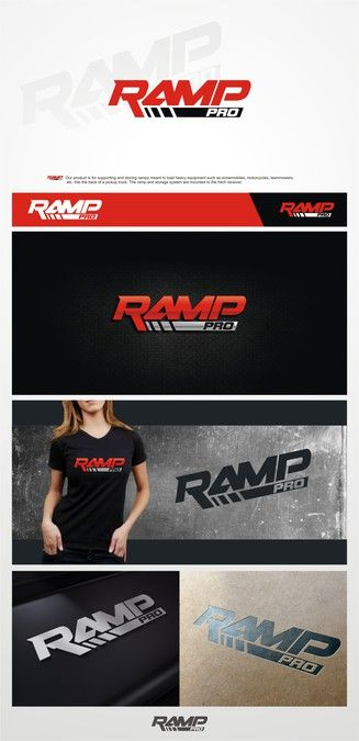 Logo creation for pickup truck ramp storage and support system - Ramp Pro by Bilalthebird