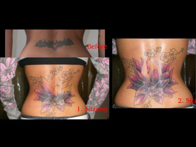 Ladies cover up their tribal tattoos too!