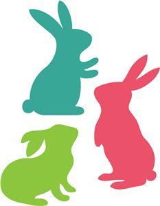 Silhoetas Coelhos da Pascoa - Adorei !!!!