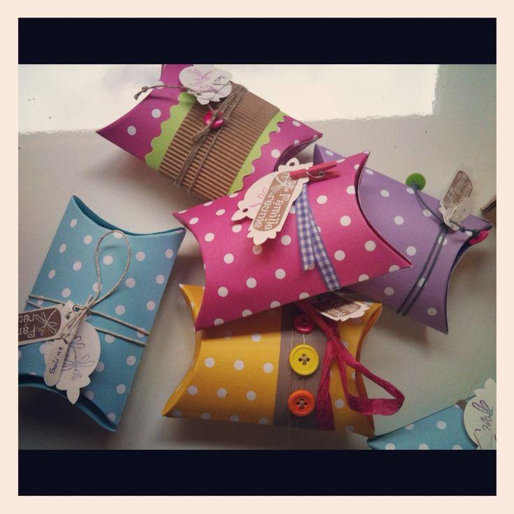 Étuis à dragées façon pillow box