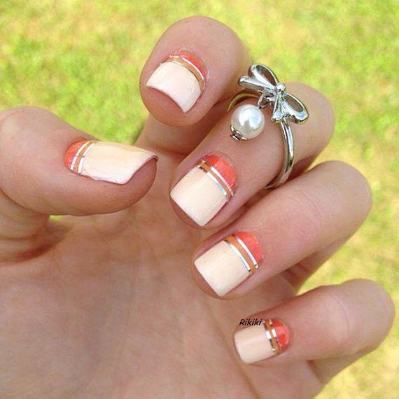 Fotos de uñas color naranja - 50 ejemplos - orange nails | Decoración de Uñas - Manicura y NailArt