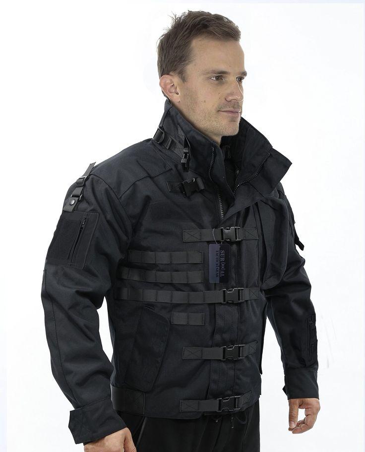 ZAPT 1000D CORDURA US Army Tactical Jacket Military Waterproof Windproof Hard Shell Jackets (Black, 2XLarge:53-57'')