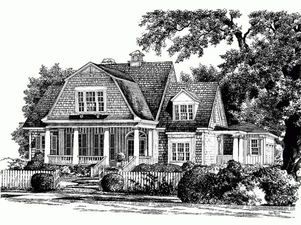 I 39 m not sold on the floor plan but i love the elevation for Historic southern house plans