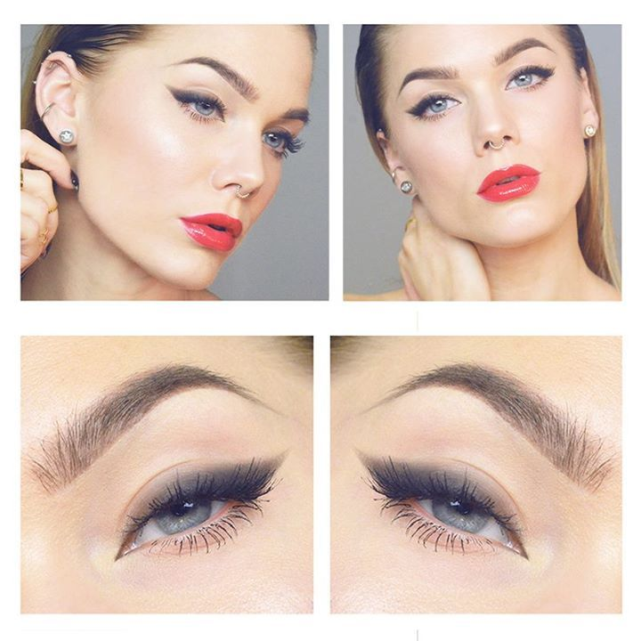 Un magnifico #makeup stile #cateyes sfumato, abbinato ad un bel rossetto rosso: perfetto per ogni occasione! Realizzalo con  - Blinc Eyeliner Pencil Black - Aegyptia HD Lipstick 06 Vermillon http://www.vanitylovers.com/blinc-eyeliner-pencil-black.html?utm_source=pinterest.com&utm_medium=post&utm_content=vanity-blinc-eyeliner-pencil-black&utm_campaign=pin-mitrucco