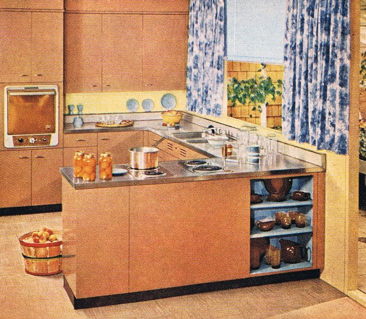 1950s Kitchen Cabinets: 965 Best Kitchens Of The Past Images On Pinterest