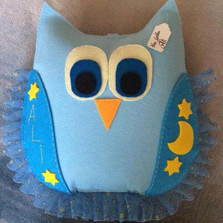 Keçe baykuş yastık... Felt pillow owl...