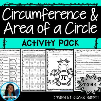 #piday This activity pack includes four options to meet the needs of students with different learning styles. Students can choose their daily activity or use each for math center/station rotations.I have also included a half page student reference sheet with formulas and variables that are used in each activity.