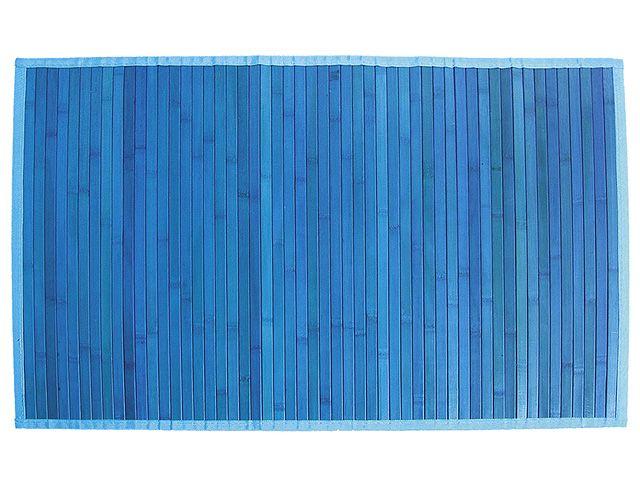 tapis bleu tapis okado color bambou bleu 60x90cm castorama - Bambou Color