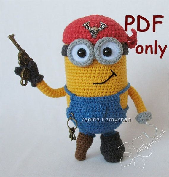 Minion crochet, Minions and Pirates on Pinterest