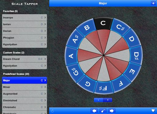 Article showing some of the functionality in the iPad version. Also an in-depth explanation of the 'Double-Tap to Transpose' feature. Exploring Scales and Music Theory | Scale Tapper for iPad