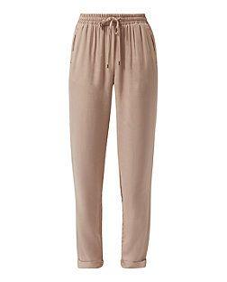 Stone Twill Slim Leg Trousers    New Look