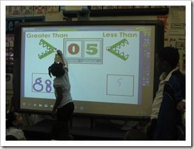 greater than less than smartboard activity and printable