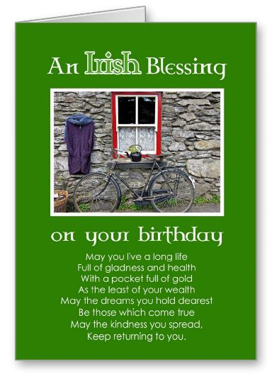 An Irish Blessing Birthday Card - Lots of Irish Facts for Kids
