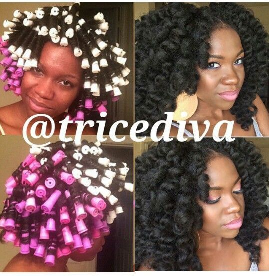 Pleasing 1000 Images About Hair Natural Hair Rod Sets Roller Sets Curling Short Hairstyles For Black Women Fulllsitofus