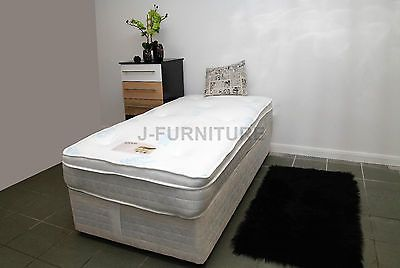 #Single divan bed with storage & memory foam/pocket #sprung mattress #+headboard,  View more on the LINK: http://www.zeppy.io/product/gb/2/271564796236/