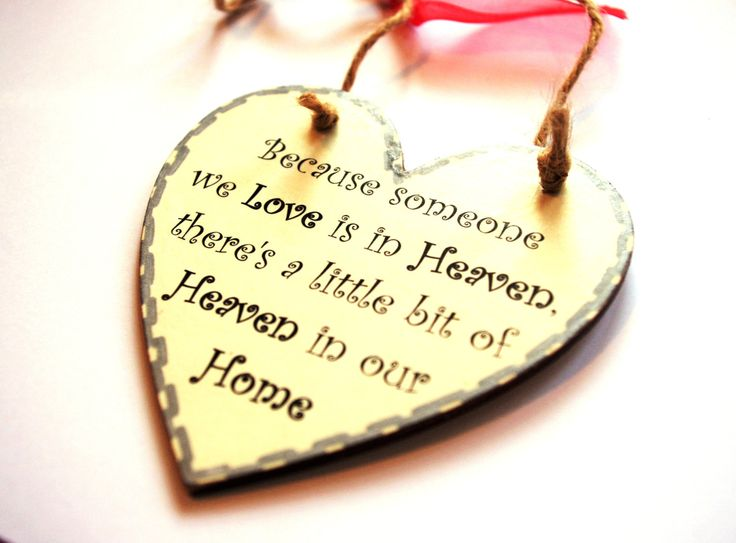Spiritual Bereavement Gift - Because someone we Love is in Heaven, there's a little bit of Heaven in our Home _ Handmade Plaque by VisualSenseCrafts on Etsy