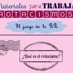 """Material para trabajar logopédicamente los problemas con la """"r"""" (rotacismo)"""