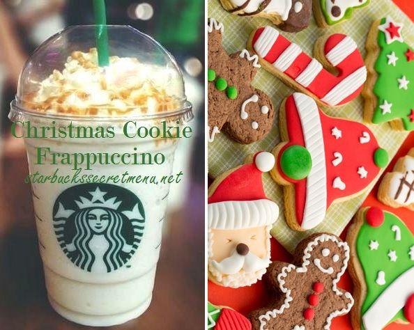 Starbucks Christmas Cookie Frappuccino! #starbuckssecretmenu How to order: http://starbuckssecretmenu.net/starbucks-secret-menu-christmas-cookie-frappuccino/