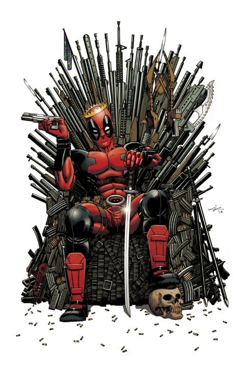 Wittier than Tyrion, more humane than Joffrey. Maybe. #Deadpool #GameofThrones