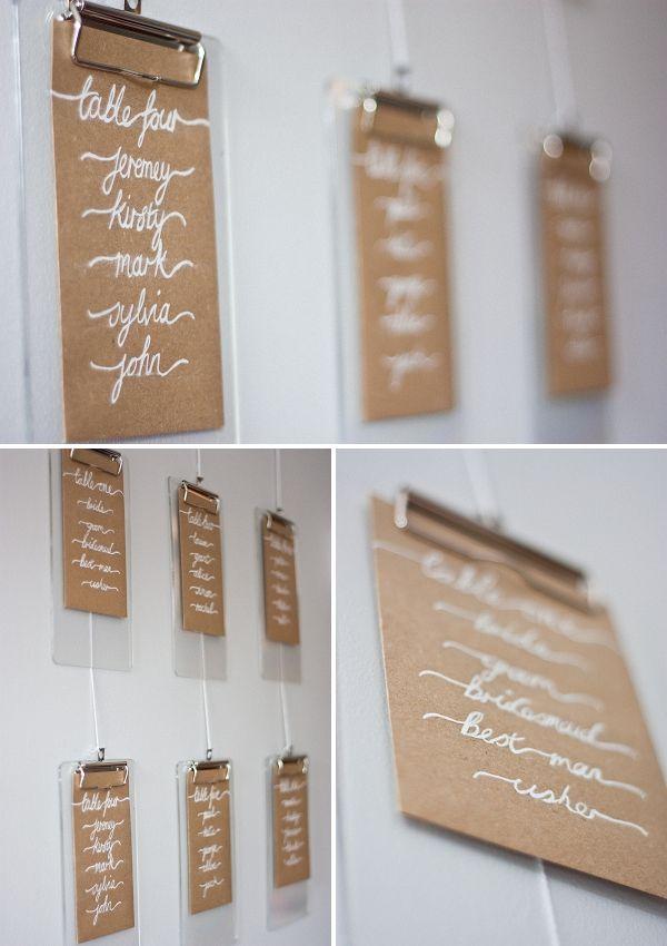 wedding table list