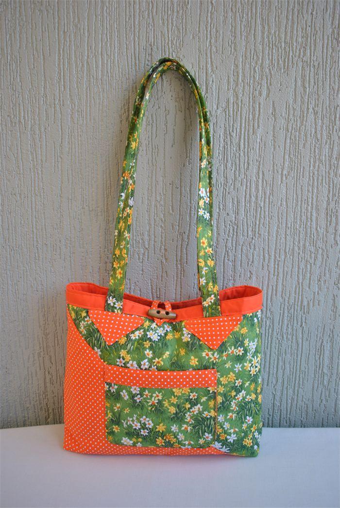 Lucinda - ladies daffodil and orange polka dot bag | Witching Hour | madeit.com.au