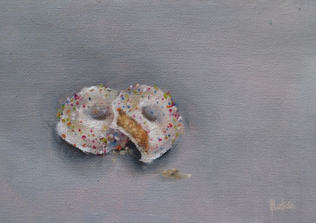 Bakers Choc-o biscuits Daily painting by Heidi Shedlock