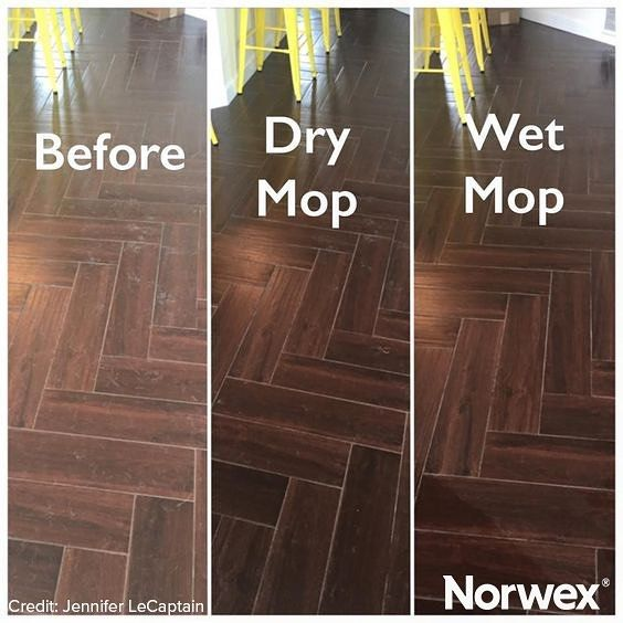 Norwex Mop Systems replace expensive floor cleaners containing harsh chemicals