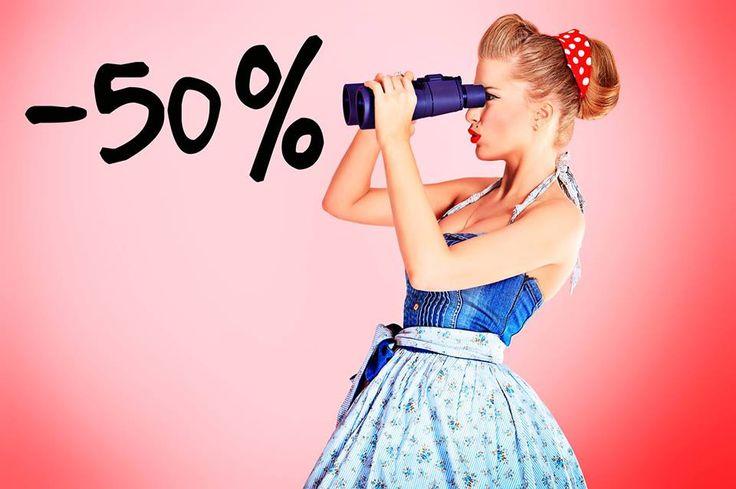 Da, ai vazut bine! Astazi ai 50% REDUCERE la toate produsele de imbracaminte disponibile in magazinul miniPRIX Otopeni. Spor la cumparaturi!