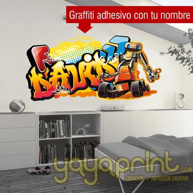 Grafiti de tu nombre Graffiti de vinilo skate Pau yayaprint. Uploaded by user Graffiti con tu nombre o texto hecho de vinilo adhesivo para pegar en la pared. Lo podemos fabricar en cualquier tamaño y en los colores que te gusten. Diferentes modelos. http://yayaprint.com/vinilos/vinilos-decorativos/vinilos-arte-urbano-grafitti.html  Graffiti con tu nombre o texto hecho de vinilo adhesivo para pegar en la pared. Lo podemos fabricar en cualquier tamaño y en los colores que te gusten…