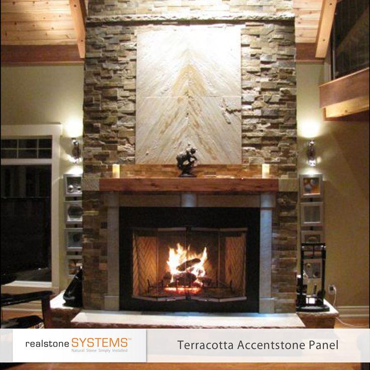 Sierra Accentstone Fireplace Stone Veneer Living Room