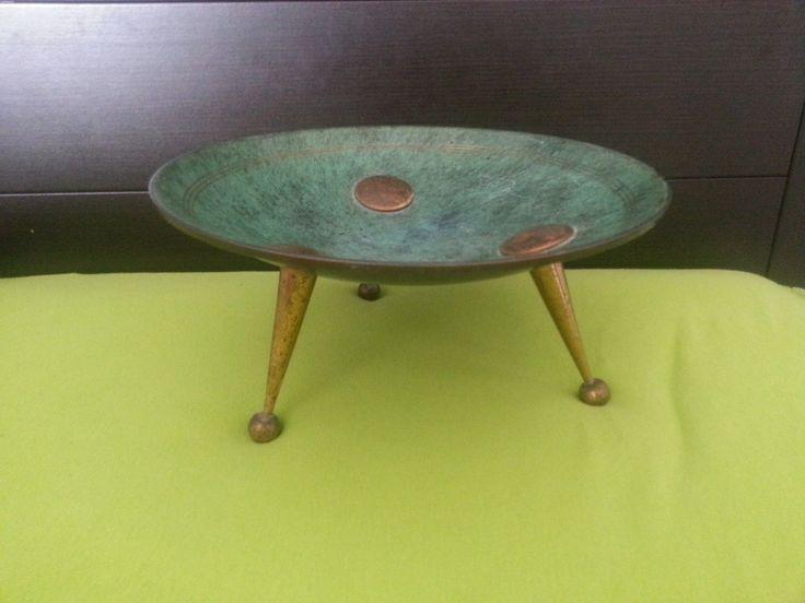 1950s Maurice Ascalon Zeev Rabin Modernist PAL Bell Israel Brass Bowl | eBay