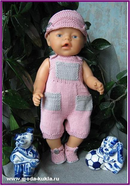 Комбинезончик с карманчиками на Беби Борн - http://www.moda-kukla.ru/index.php?option=com_content&view=article&id=116:2014-07-11-05-42-44&catid=8:knitting1