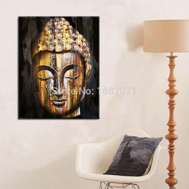 Уникальный дизайн высокое качество головы будды портрет маслом на холсте высокое…