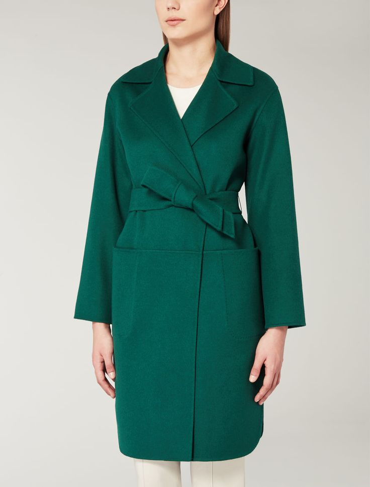 Max Mara coat--love the pocket detail.  Horizontal line continues on back side.