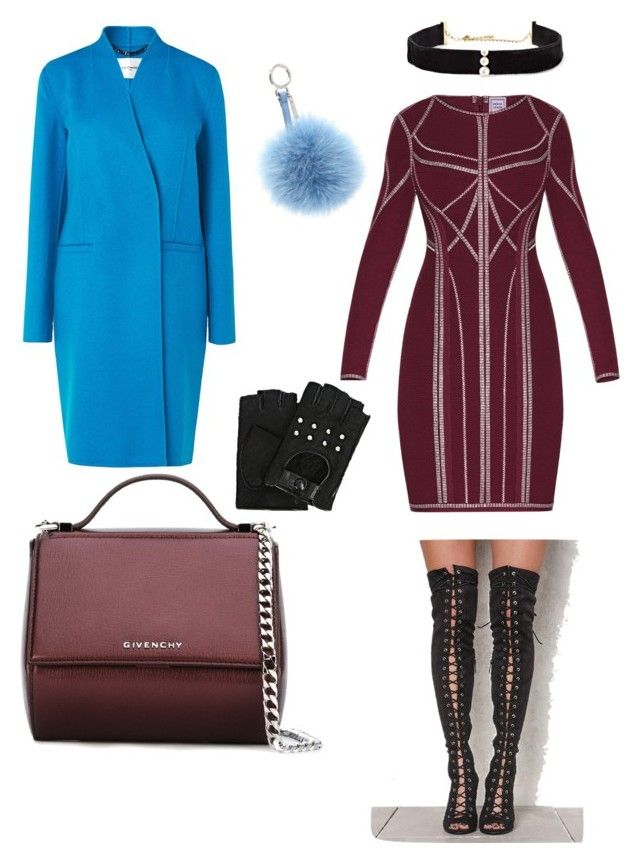 """Sexy diner"" by elenazaharia on Polyvore featuring L.K.Bennett, Hervé Léger, Givenchy, Karl Lagerfeld, Fendi and Anissa Kermiche"