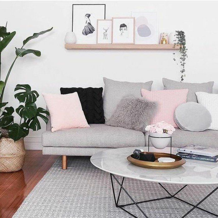 ▷ 1001 + Inspire ideas for living rooms in gray and white