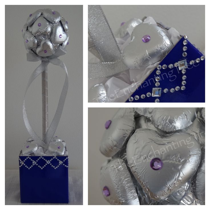 Custom order for a birthday gift.  Silver and violet with some added bling.