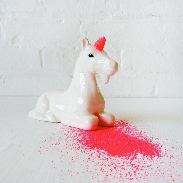 Neon Unicorn Glitter Dispenser