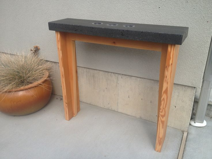 Douglas fir and concrete by Keith Crewe