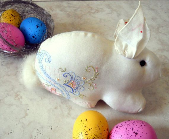 The 25 best baby easter basket ideas on pinterest easter bunny hand embroidered hanky baby easter basket gift rabbit negle Gallery