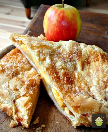 Delicious Apple and Custard Strudel, serve warm on their own or add a blob of whipped cream!  #brunch #dessert #fall