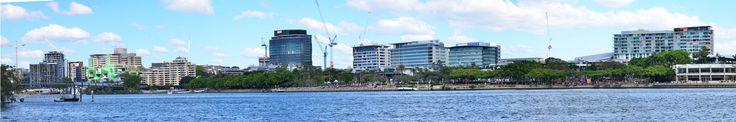 A panorama of South Bank, Brisbane.