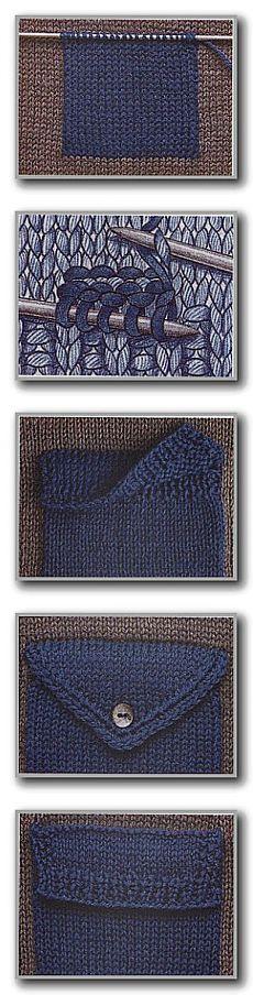 Набранный накладной карман. Карман с клапаном. ÕPETUS: http://www.liveinternet.ru/users/4669494/post332990568/