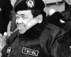 Gus Dur dressed as a TNI-AL Officer